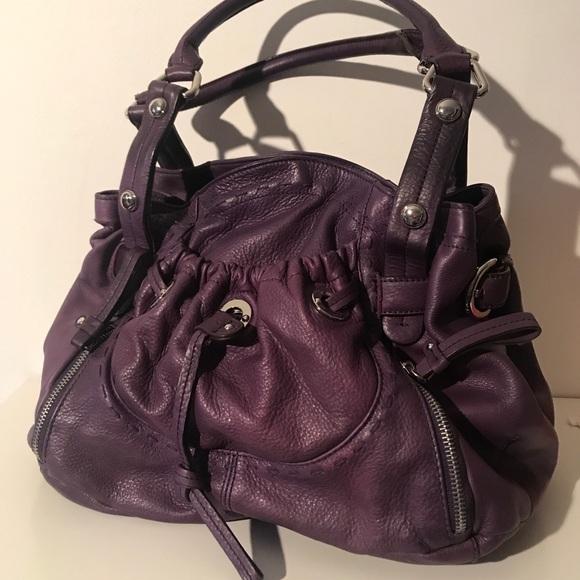 b. makowsky Bags   B Makowsky Glove Leather Shoulder Baggrape   Poshmark 8d6bf03439